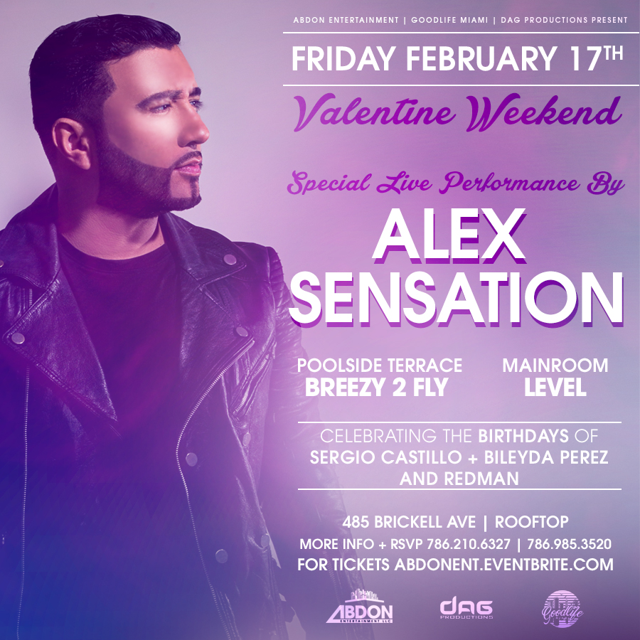 Alex Sensation Live in Brickell