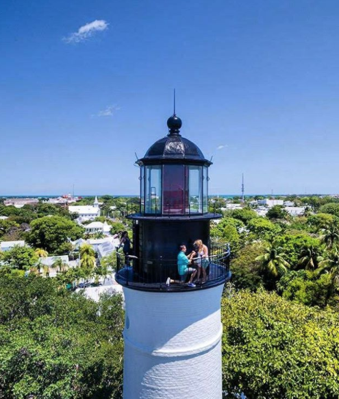 Keywest Lighthouse photo via instagram @jwa1drop