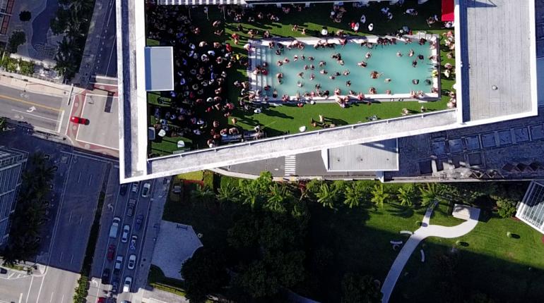 W Miami drone shot