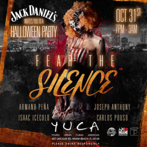 Halloween party at YUCA Miami