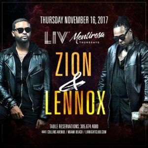 Zion y Lennox at LIV Miami