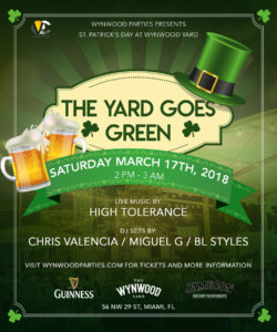 Celebrate St. Patrick's Day at the Yard Miami
