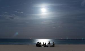 Full Moon in Miami by @Depotmsa