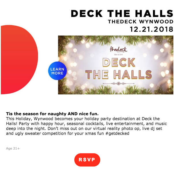 Deck the Halls at the Deck in Wynwood