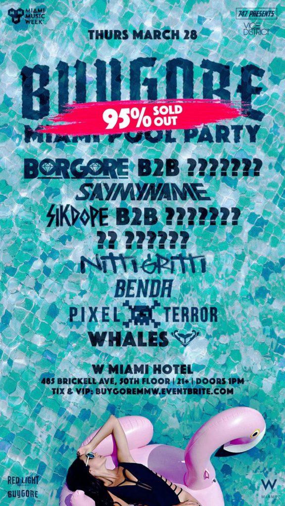 Buygore Miami Pool Party at the W Miami