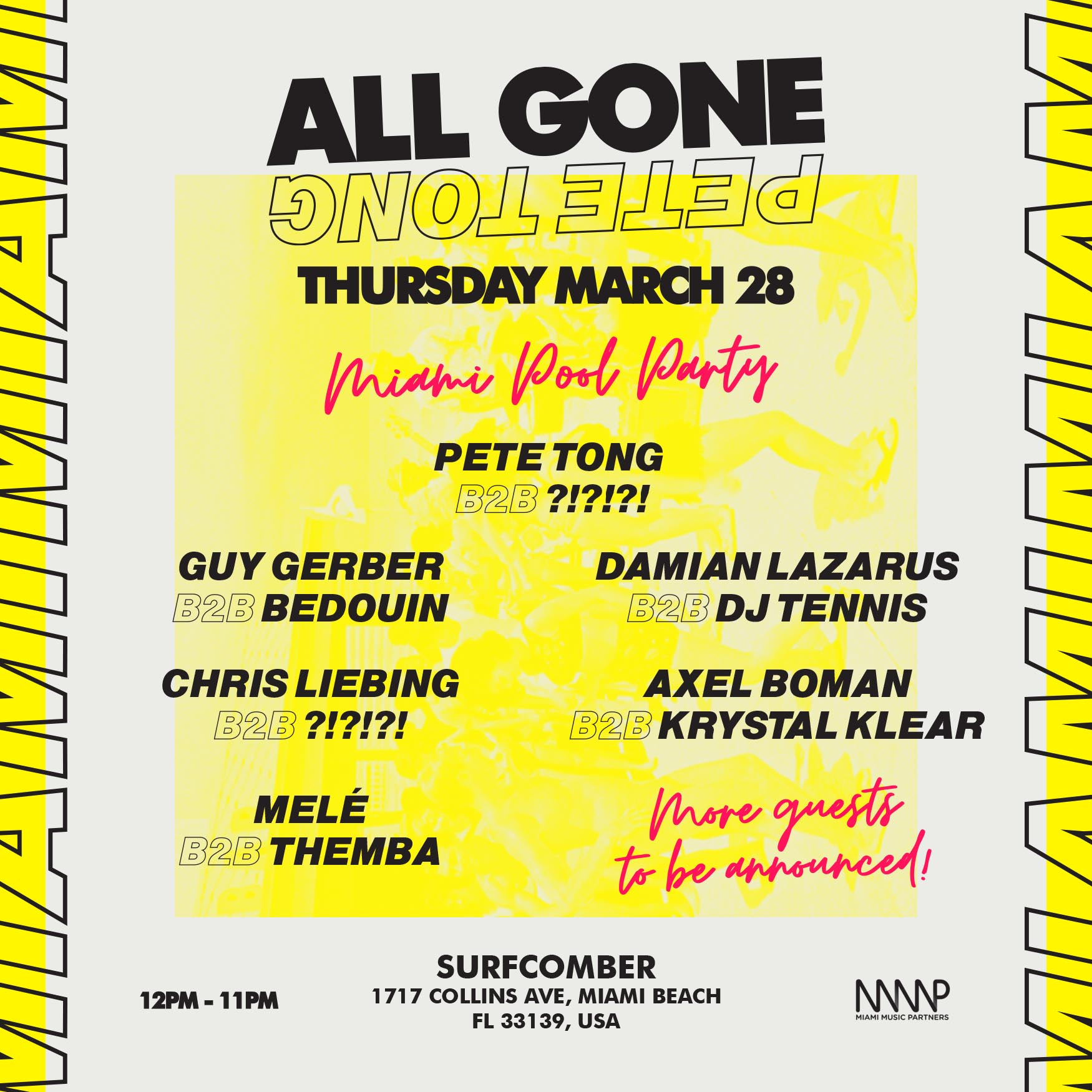 Pete Tong Pool Party in Miami