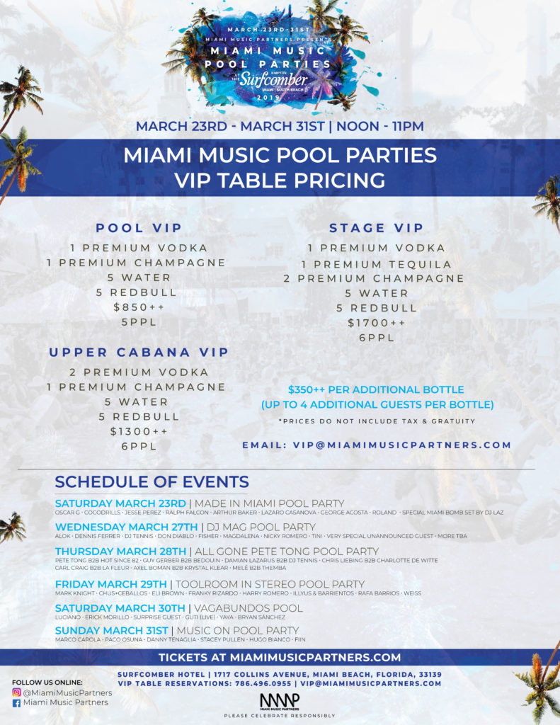 Surfcomber VIP Pricing MMW 2019