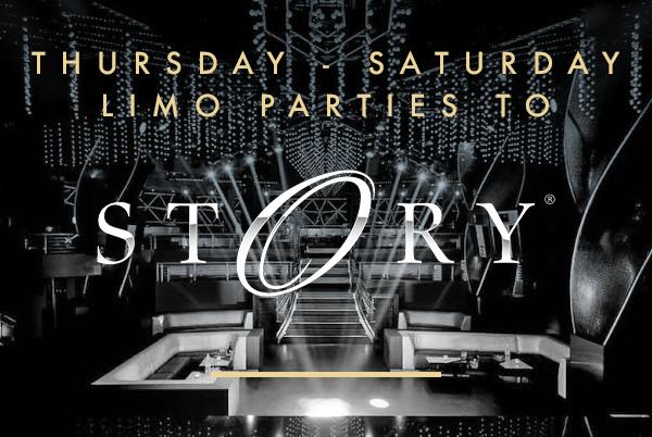 Limo parties to Story nightclub