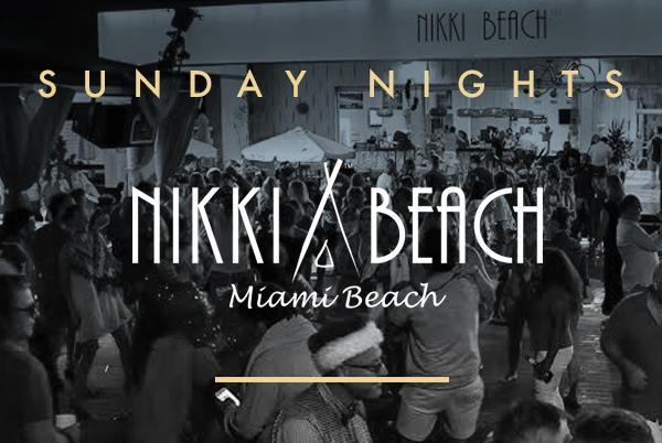 Sunday nights at Nikki Beach Miami